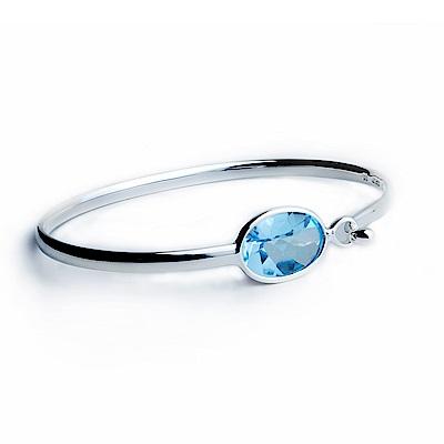 Georg Jensen SAVANNAH 藍拓帕石+純銀手環