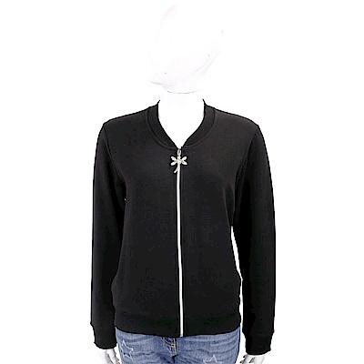 BLUGIRL-FOLIES 刺繡蜻蜓黑色拉鍊運動衫