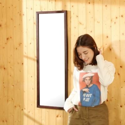 佳美 質感空間造型木紋壁掛鏡(1入)化妝鏡 長鏡 壁鏡 掛鏡