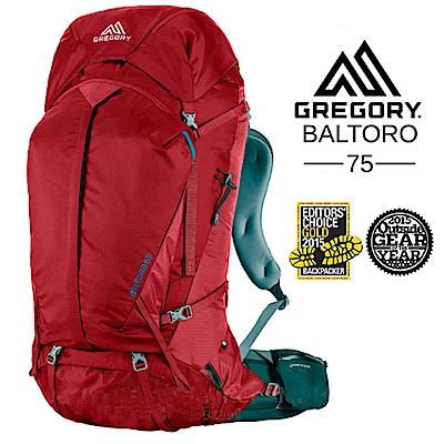 美國 GREGORY Baltoro 75 登山背包(M號)_火花紅