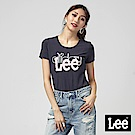 Lee 植絨LOGO 羅紋拼接短袖圓領T恤/RG-丈青