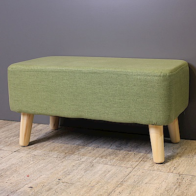Asllie伊凡穿鞋椅/腳凳/小沙發凳-綠色