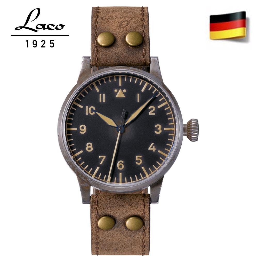 Laco朗坤 861933 傳家寶系列薩爾布呂肯夜光自動復古機械錶