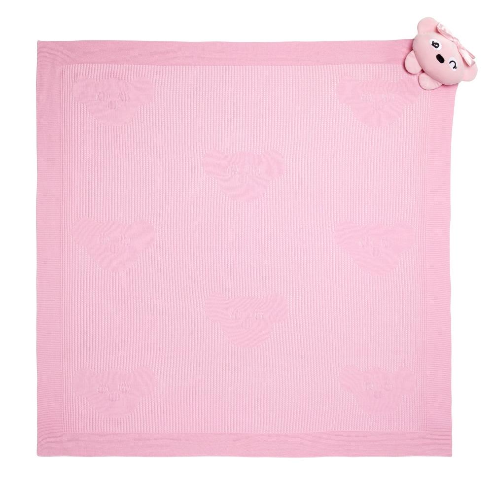 WHY AND 1/2 mini 安撫玩偶洞洞毯禮盒 (粉色)