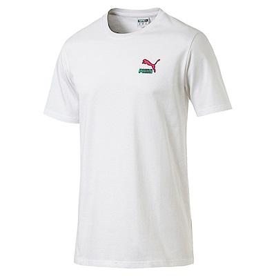 PUMA-男性流行系列塗鴉Logo短袖T恤-白色-亞規