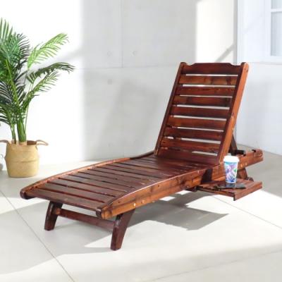 LOGIS  野居實木三段式戶外休閒躺椅 戶外躺椅