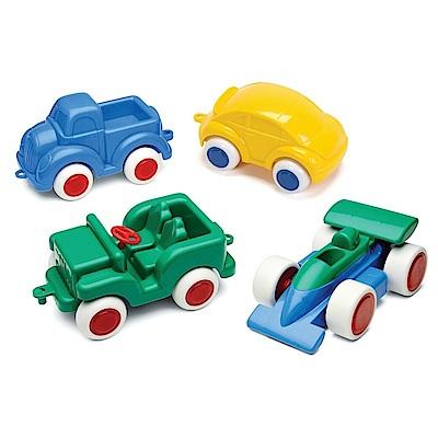 瑞典Viking Toys維京玩具-彩色玩具車(14cm,4入/組,款式隨機)
