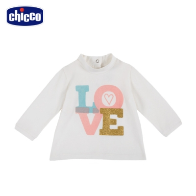 chicco- TO BE Baby-Love字母長袖上衣