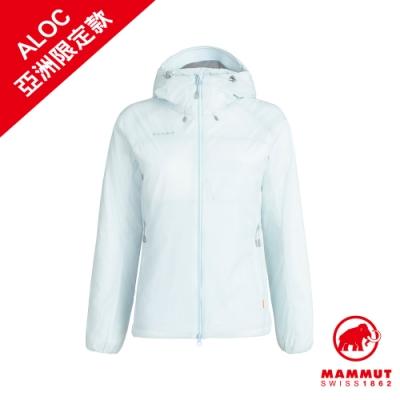 【Mammut 長毛象】Rime IN Flex Hooded Jacket AF Women 彈性保暖連帽化纖外套 白謠曲 女款 #1013-00760