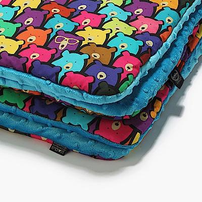 La Millou 暖膚豆豆毯-小熊軟糖(藍綠調色盤)
