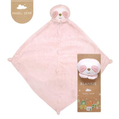美國 Angel Dear 動物嬰兒安撫巾禮盒版 (粉紅小樹懶)