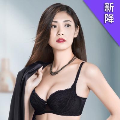 華歌爾X美型系列 A-C 罩杯 塑身機能內衣(時尚黑)