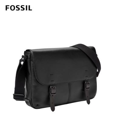 FOSSIL BUCKNER 每日通勤小型郵差包-黑色 MBG9423001