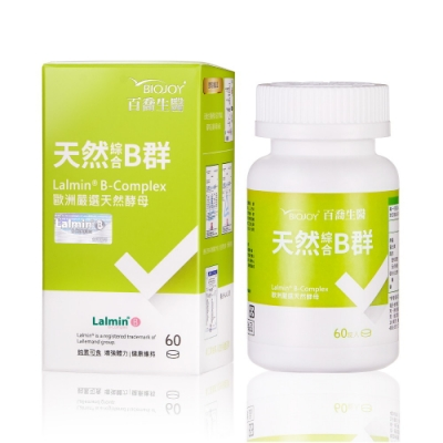 BioJoy百喬 法國天然綜合B群(60錠/瓶)x3入