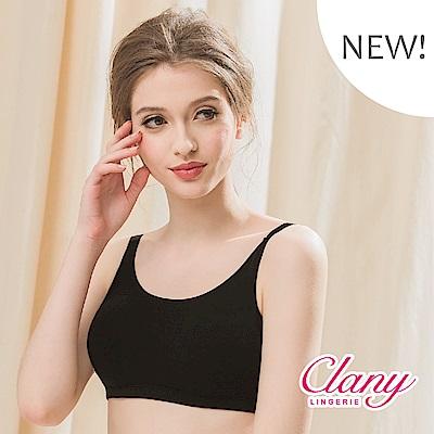 蠶絲蛋白低敏潤膚消臭加大尺碼無鋼圈M-2XL內衣 神秘黑潮 可蘭霓Clany