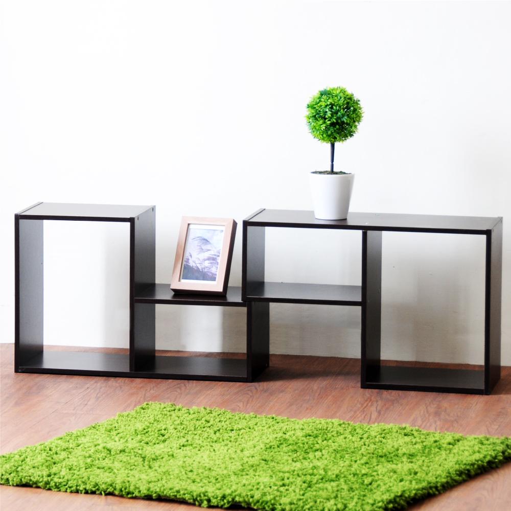 《HOPMA》DIY巧收漾彩L型百變收納櫃-1箱2入-寬54 x深23 x高36cm