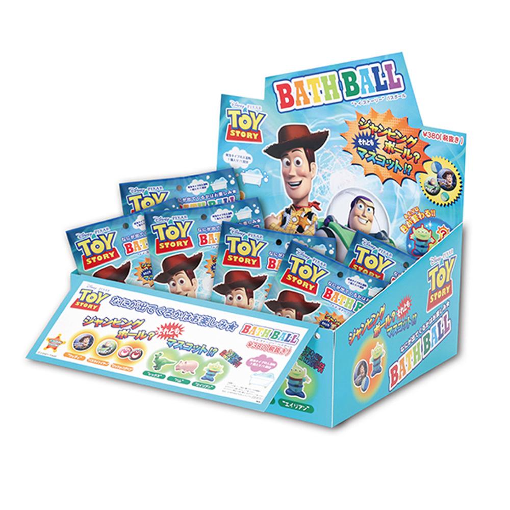 日本NOL-玩具總動員入浴球-1盒共24入(附可愛公仔/聖誕禮物/交換禮物/泡澡)