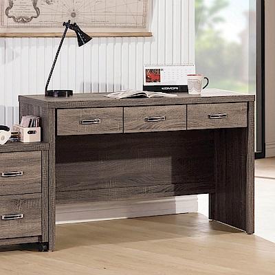 MUNA 亞瑟鋼刷4尺三抽書桌(不含活動櫃)  120X56X79cm