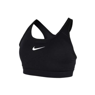 NIKE 女運動內衣-慢跑 路跑 運動背心 緊身上衣 瑜珈 有氧 黑白