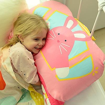 Milo&Gabby 動物好朋友-超細纖維防蹣大枕心+枕套組(LOLA公主兔兔)