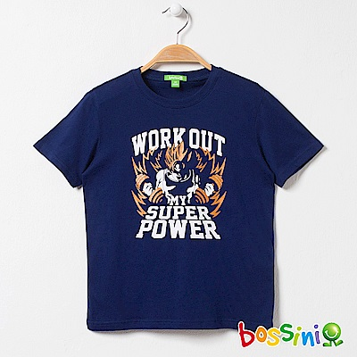bossini男童-印花短袖T恤06海藍