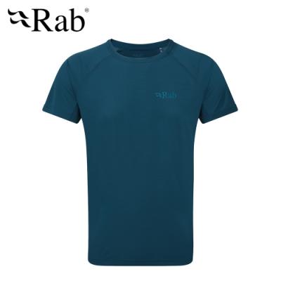 【英國 RAB】Pulse SS Tee 透氣短袖排汗衣 男款 墨藍 #QBU79