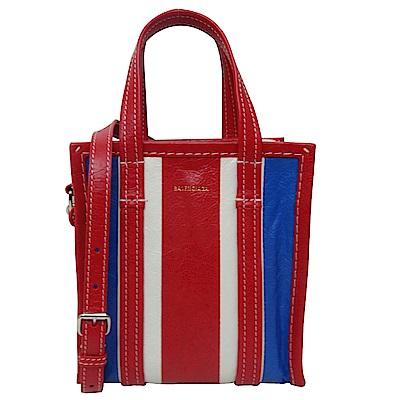 BALENCIAGA BAZAR SHOPPERF牛皮直式手提斜背包(紅色)