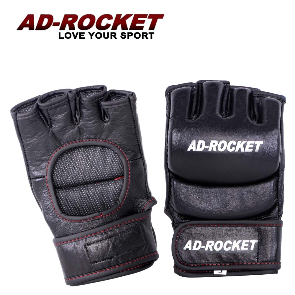 AD-ROCKET MMA頂級格鬥手套 黑色 拳擊手套 散打 拳擊 格鬥
