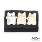 ABS貝斯貓 可愛貓咪手工拼布皮夾證件包 88-004