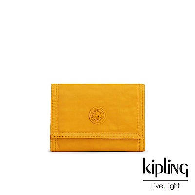 Kipling 亮眼芥末黃多夾層短夾-MICKYLINA
