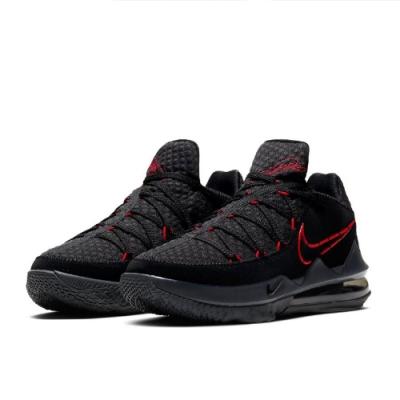 NIKE 籃球鞋 明星款LBJ 運動 氣墊 避震 男鞋 黑 紅 CD5006001 Lebron XVII Low