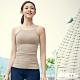 STL yoga bra T SS Loveme 韓國瑜珈 運動機能訓練背心上衣(含專利胸墊) 削肩/細肩杏色 product thumbnail 1