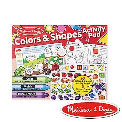 美國瑪莉莎 Melissa & Doug 學習貼貼樂–顏色和形狀 2入組