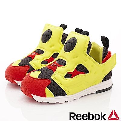 Reebok頂級童鞋 籃球嗶嗶鞋款 VFI406黃(寶寶段)