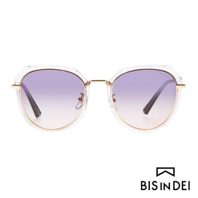 BIS IN DEI 不低調個性圓框太陽眼鏡-灰