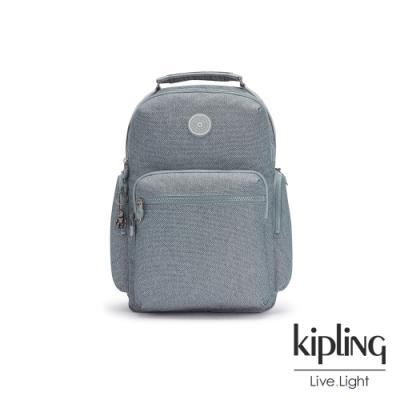 Kipling 個性淺灰藍大容量手提後背包-OSHO