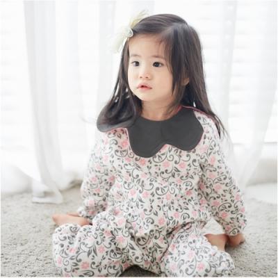 Baby 童衣 長袖連身衣 花苞圍領造型爬衣 92026(共兩色)