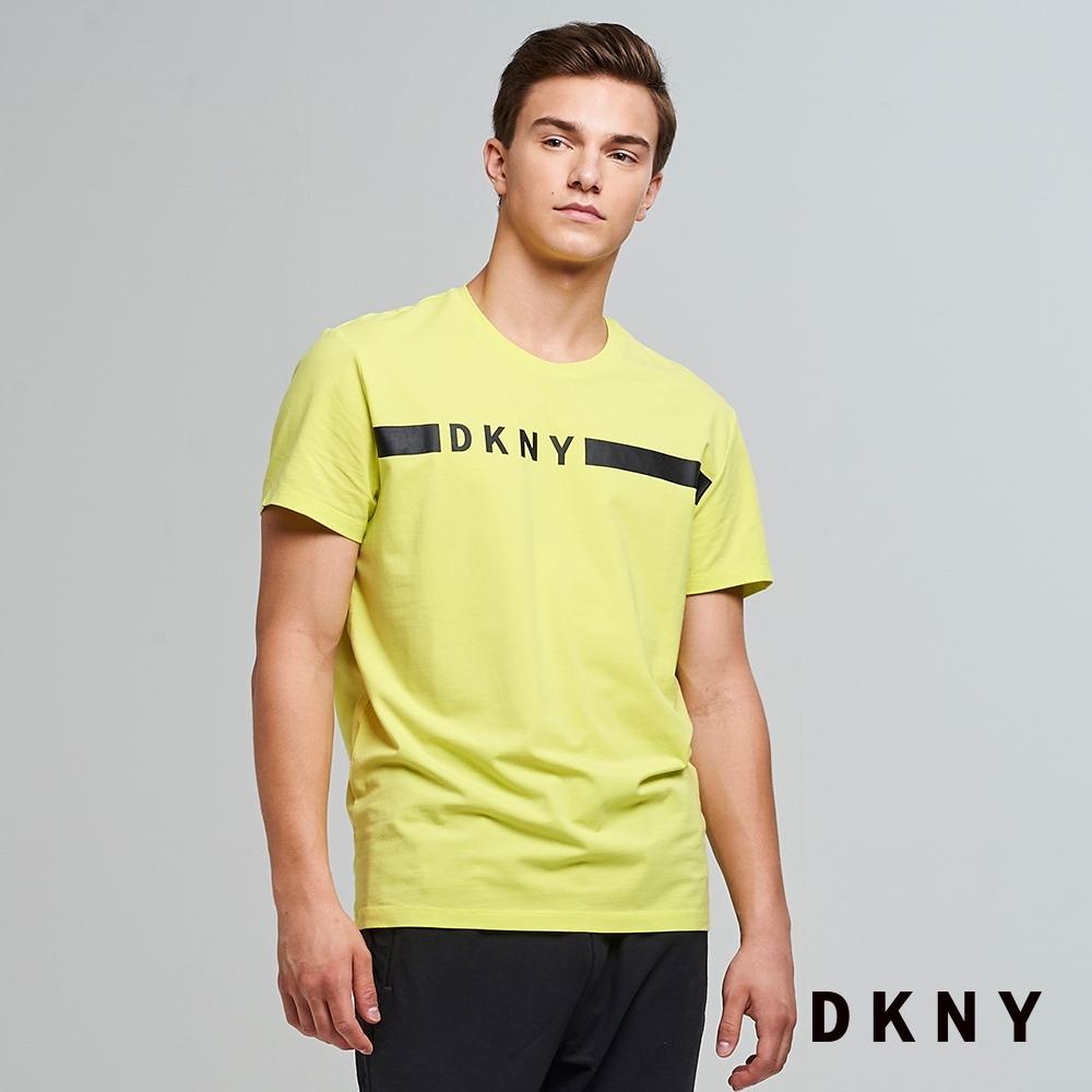 DKNY 男款 圓領LOGO純棉T恤 黃
