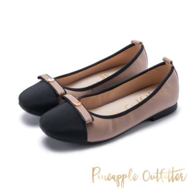 Pineapple Outfitter-BRENTA時尚名媛平底娃娃鞋-米色