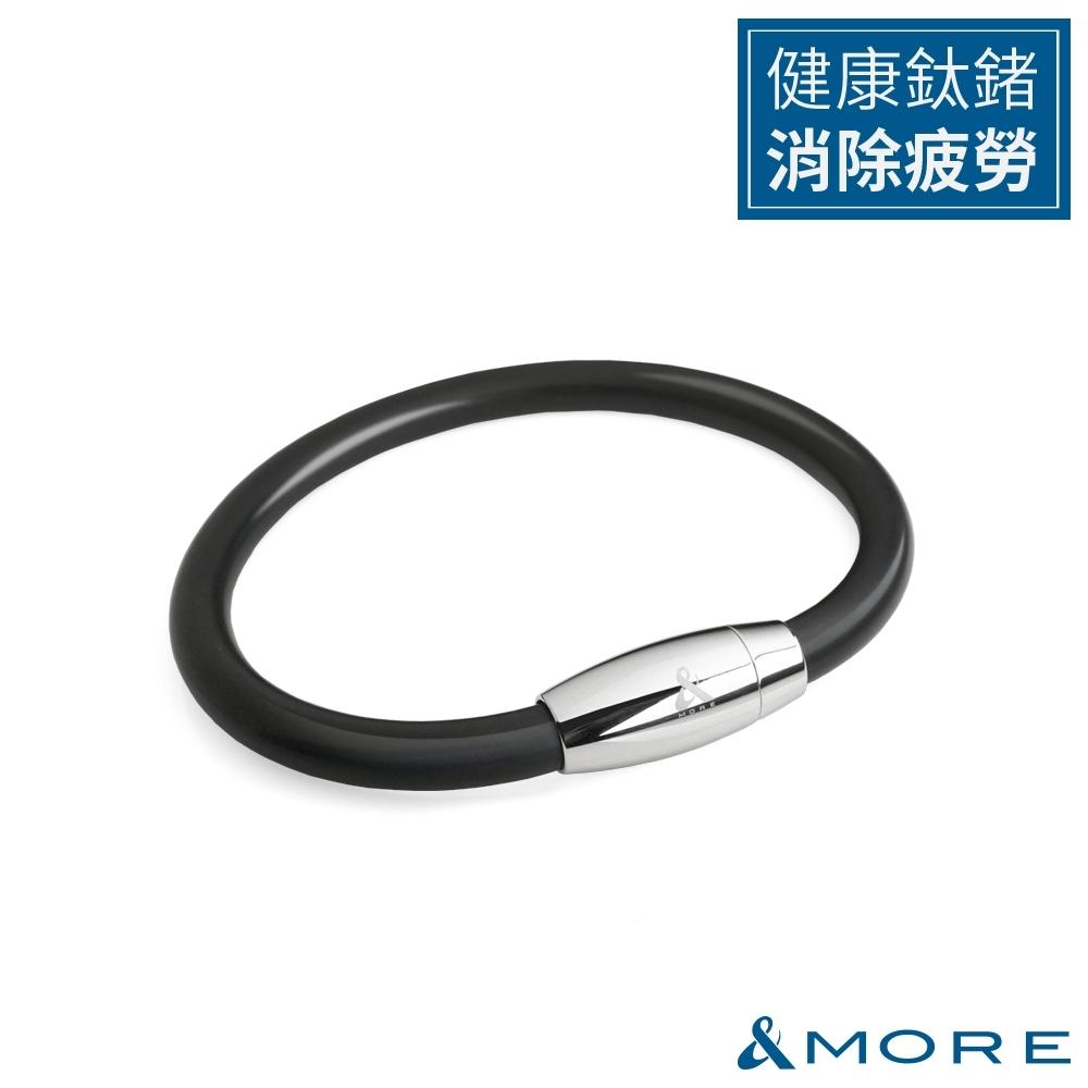&MORE愛迪莫 健康鍺鈦手環/腳環 Z power II(6mm)-黑色