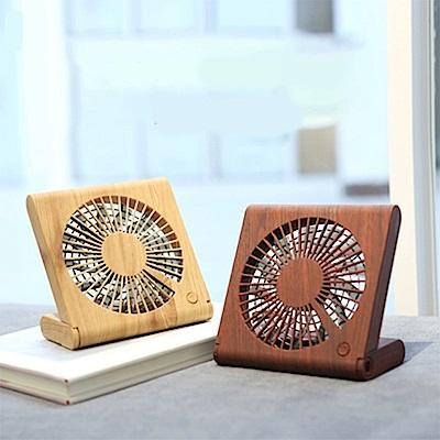 QHL 酷奇-木紋造型摺疊筆記本隨身USB風扇