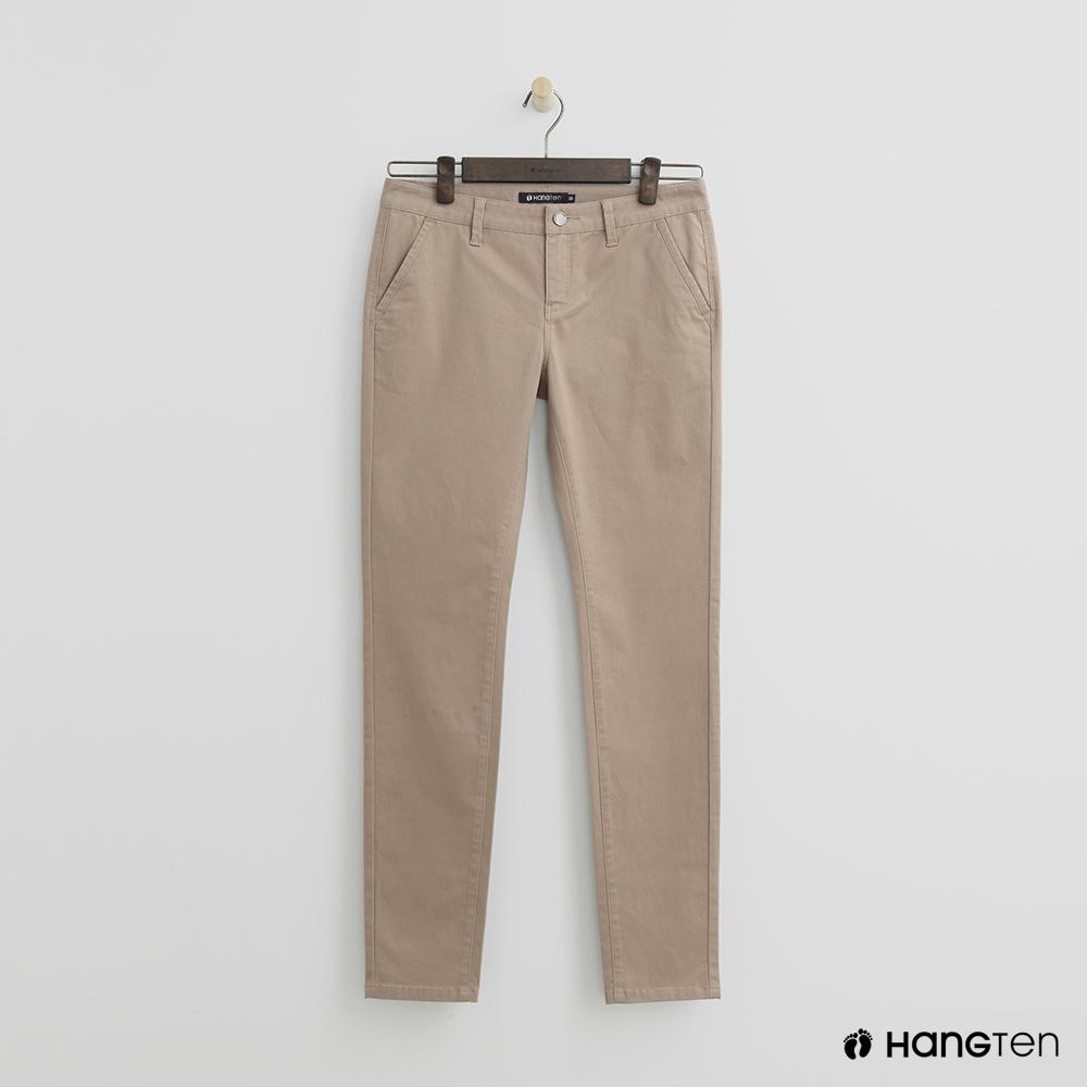 Hang Ten - 女裝 - 簡約休閒褲 - 卡其