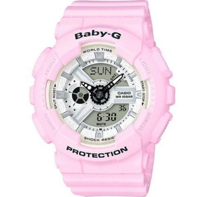 BABY-G 海洋沙灘色彩系列電子錶(BA-110BE-4A)-粉/43.4mm