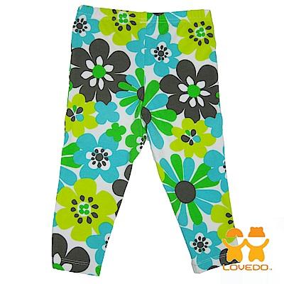 【LOVEDO-艾唯多童裝】綠漾花朵 兒童百搭長褲(綠)