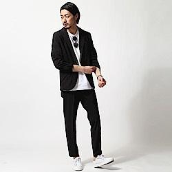 休閒西裝套裝 外套+九分褲(3色) ZIP日本男裝