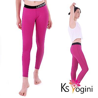 KS yogini 點點反光印 彈力修身運動褲 瑜珈褲 紫底小圓點