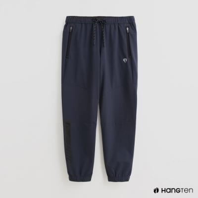 Hang Ten - 男裝 - ThermoContro-防水機能鬆緊抽繩長褲-藍
