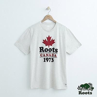 男裝Roots 經典短袖T恤-灰色