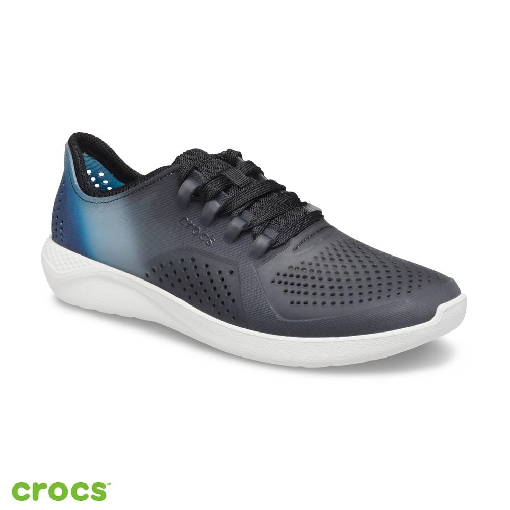 Crocs卡駱馳 (男鞋) 男士LiteRide拼色徒步繫帶鞋-206557-0I9