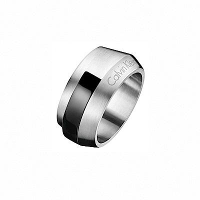 CALVIN KLEIN Bump 系列簡潔俐落率性風格雙色戒指-12